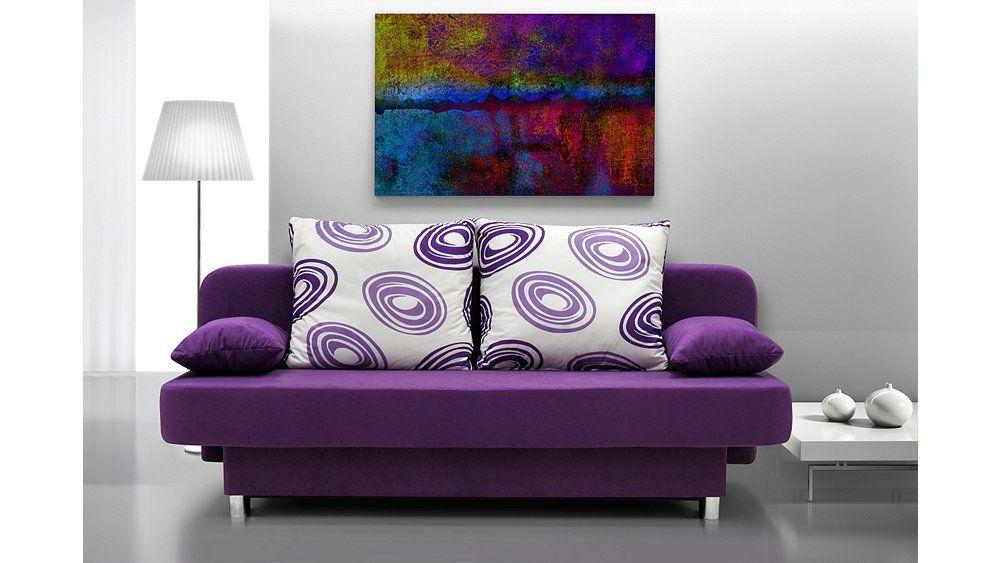 Couch mit Kissen  - wohnzimmer modern lila
