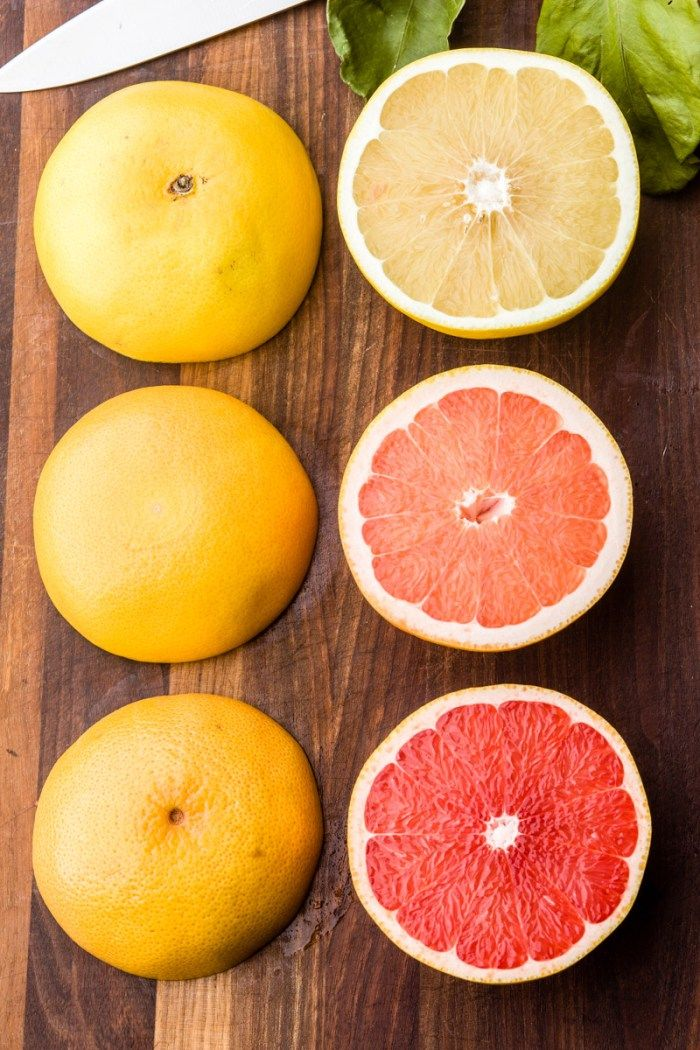 All these grapefruit varieties are getting sweeter every year: Star Red (bottom), Ruby Red (middle), white (top)