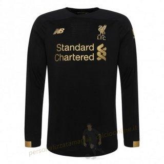 Home Manica lunga Portiere Liverpool 2019 2020 Nero Kit Calcio ...