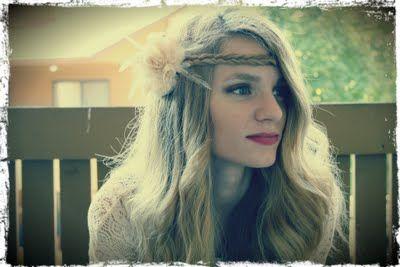 boho fishtail headband with your own hair.