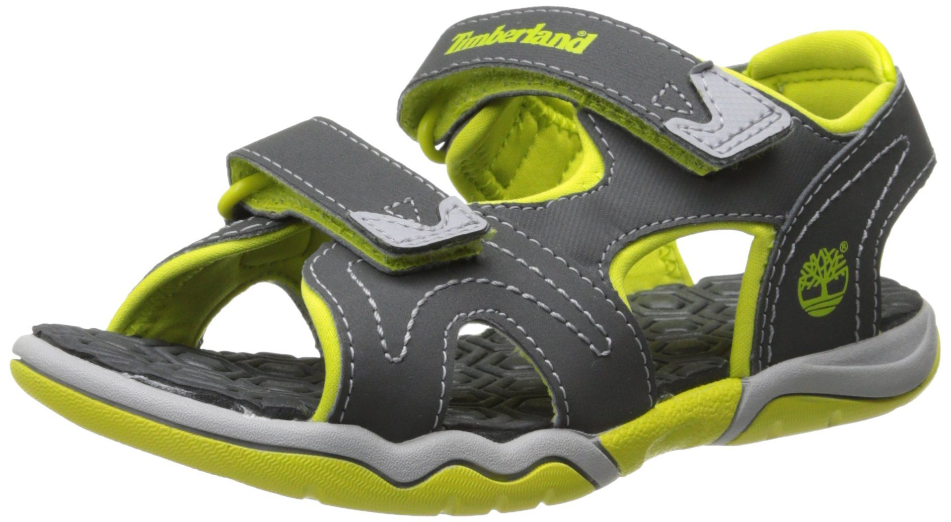 Timberland Active Casual Sandal Ftk_adventure Seeker 2 Strap Sandal,  Sandales Bout ouvert Mixte Enfant, Gris (Dark Grey With Green), 21 -  Chaussures ...