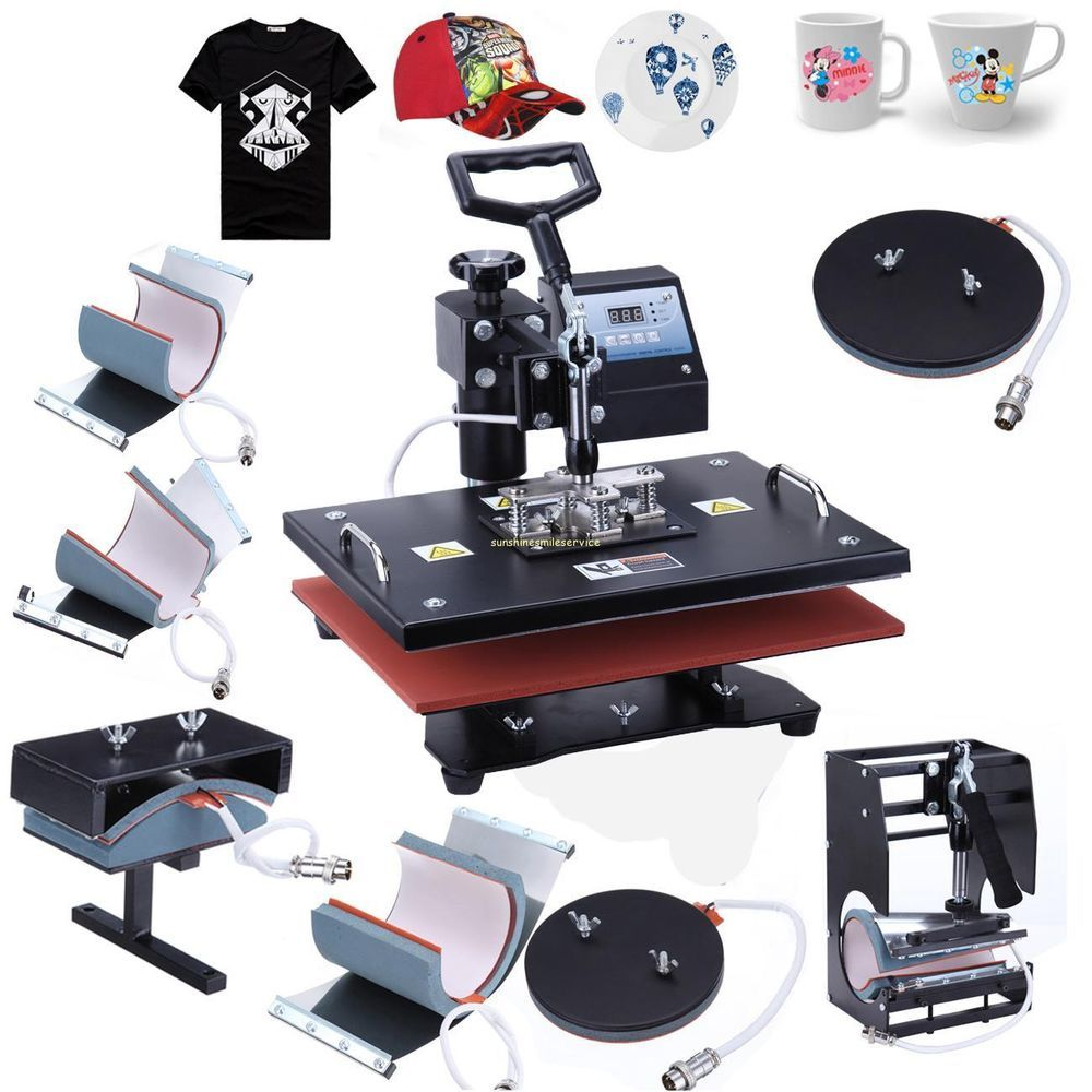 Digital 8 in 1 transfer heat press machine sublimation t for Machine for printing on t shirts