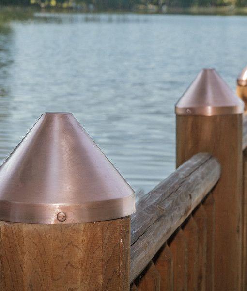 Nortek Round Copper Post Cap Post Cap Fence Post Caps Round