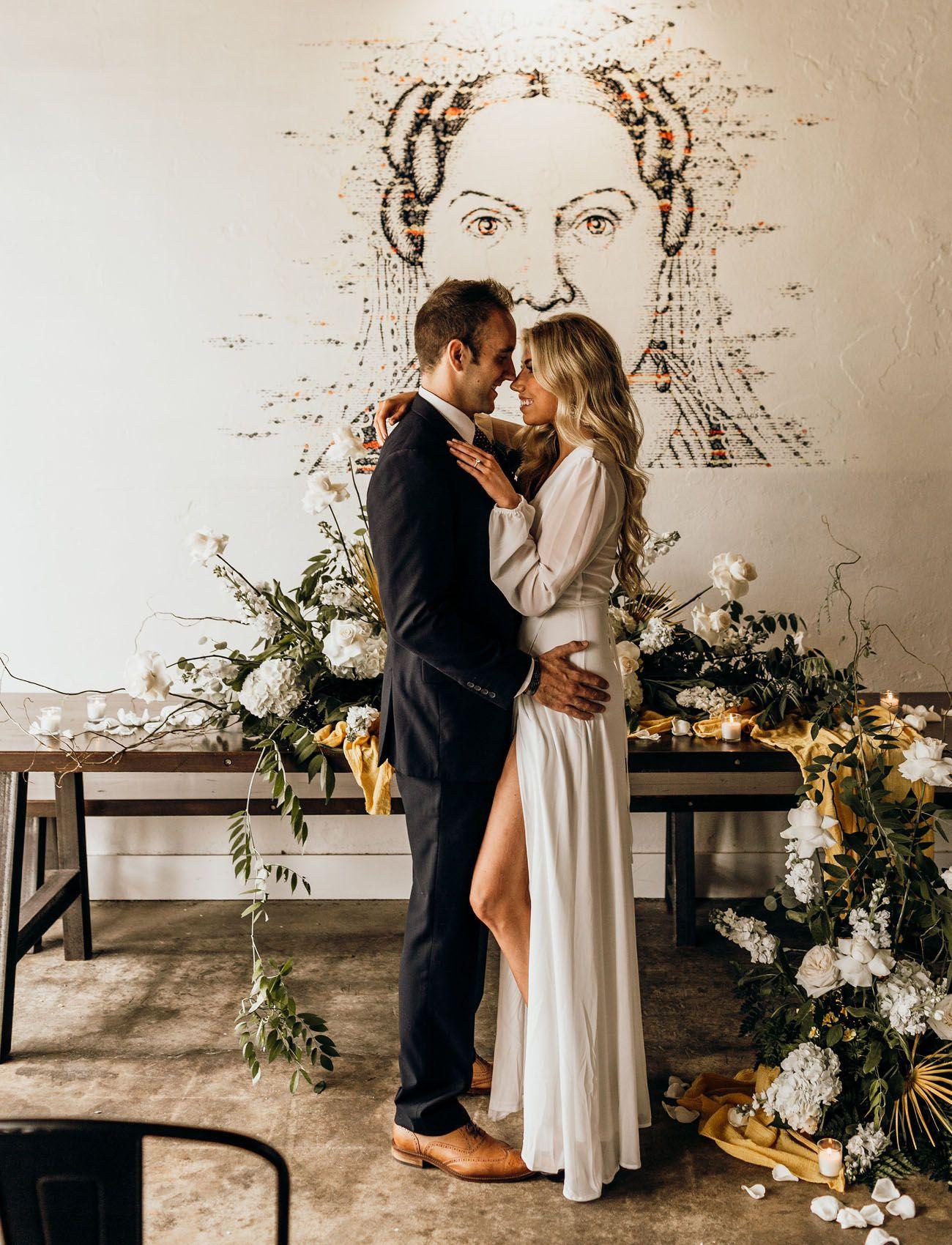 Pour me a porter boho wedding inspiration at a brewery in pensacola