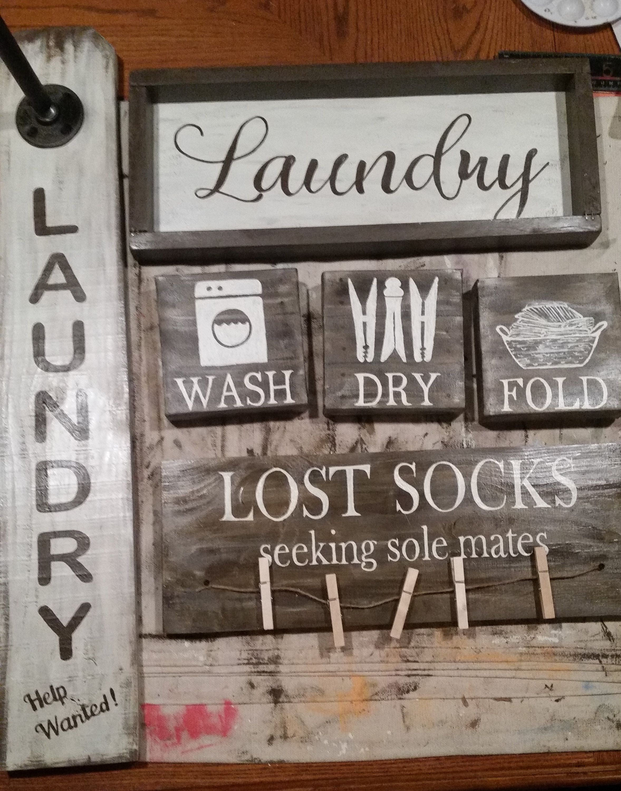 Custom Rustic Wood Laundry Room Signs Etsy Rustic Laundry