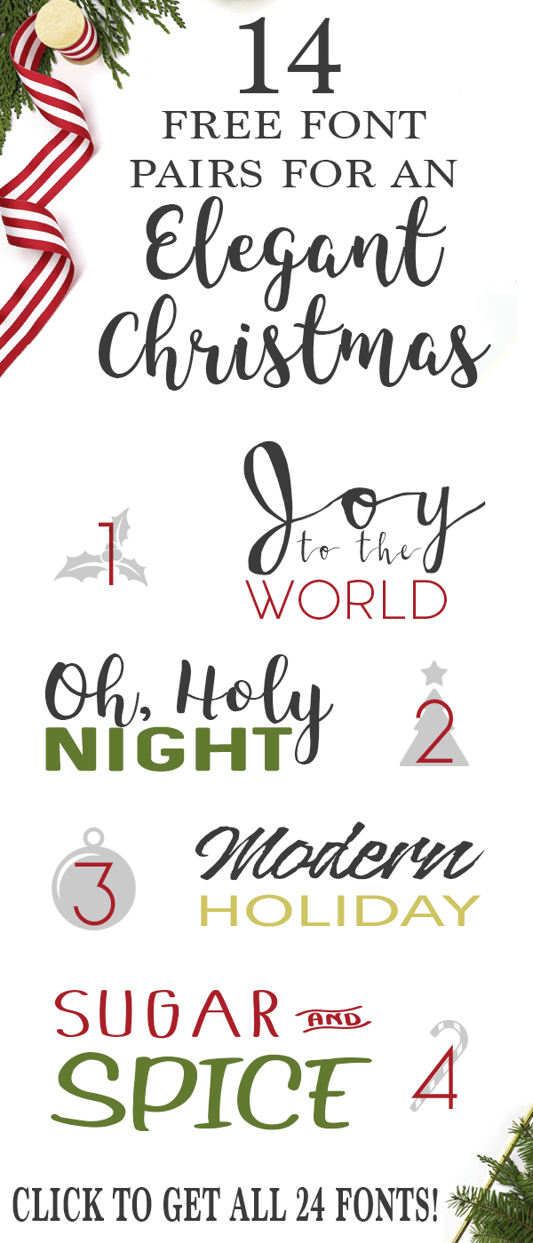 Download Free Christmas SVG Files | Cricut | Christmas fonts ...