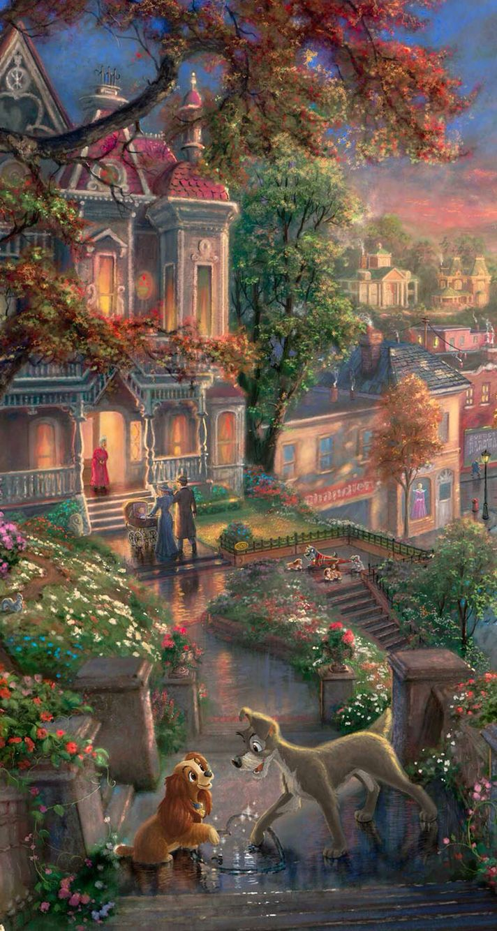 Lady The Tramp Disney Wallpaper Disney Background Disney Images