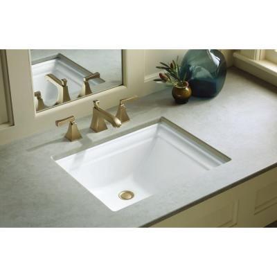 KOHLER Memoirs Vitreous China Undermount Bathroom Sink In White - Home depot undermount bathroom sink for bathroom decor ideas