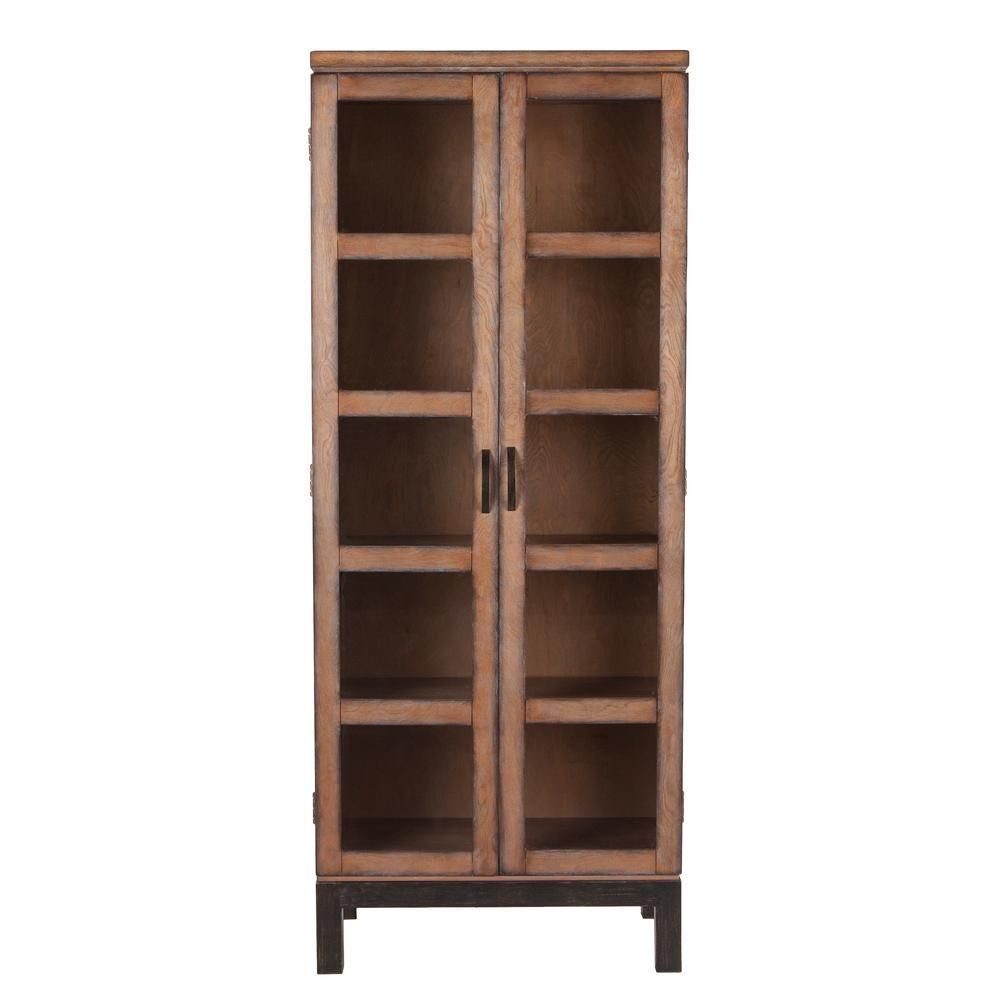 Southern Enterprises Rosina Curio Brown Storage Display Cabinet Hd675145 The Home Depot Southern Enterpr In 2020 Display Cabinet French Farmhouse Decor Curio Cabinet