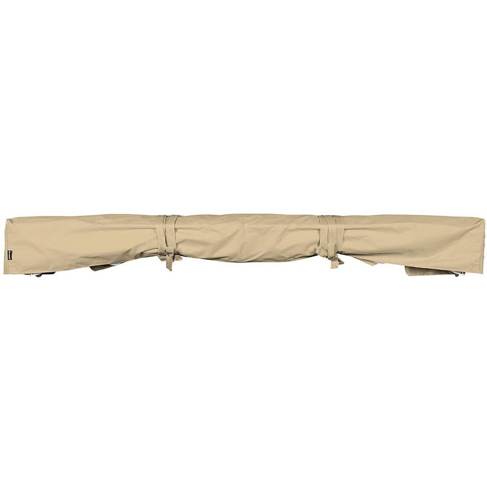 Advaning 10 Ft Protective Cover For Retractable Awnings With Heavy Duty Weather Proof Fabric In Beige Retractable Awning Water Resistant Coats Colorful Decor
