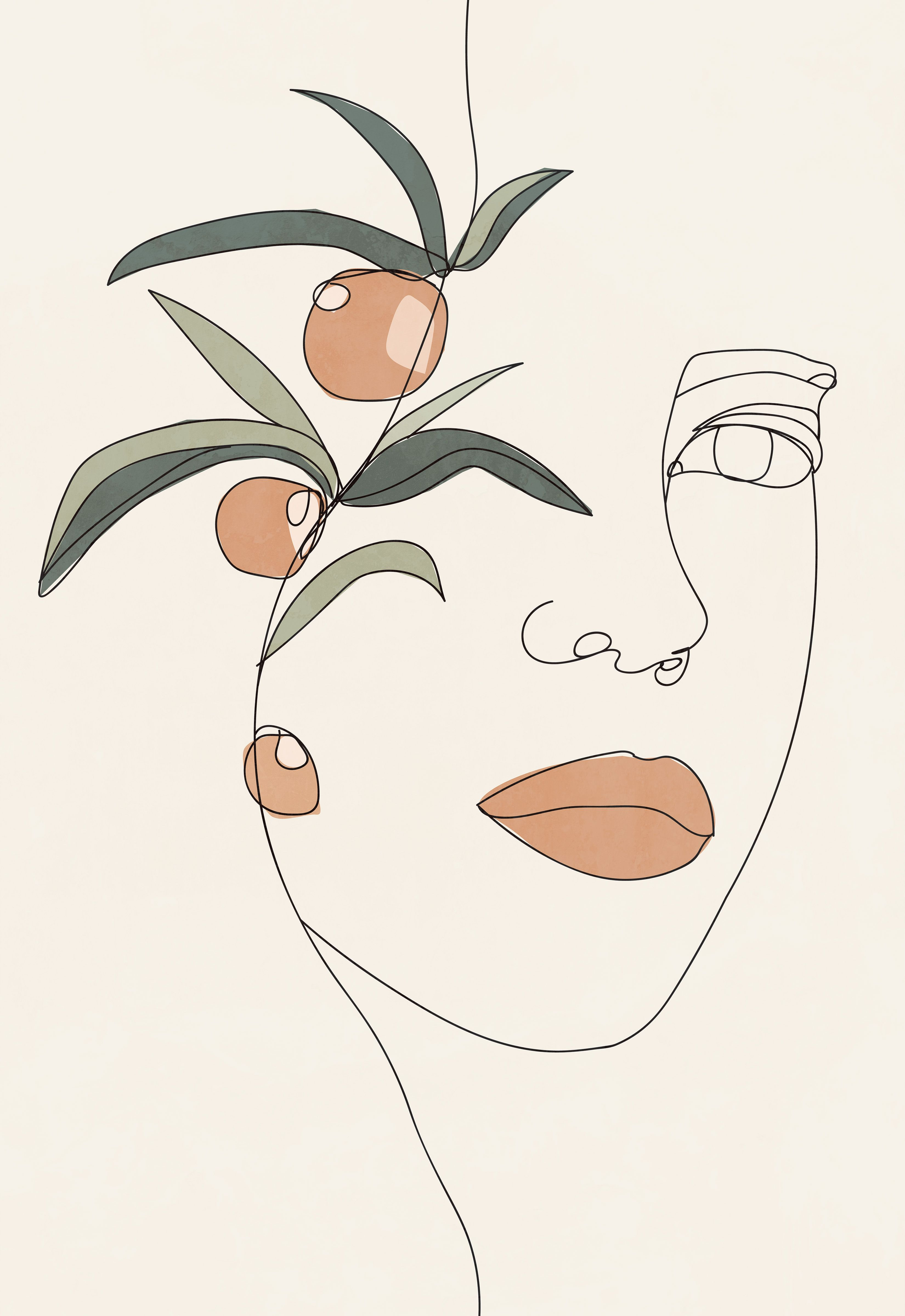 Modern Woman Line Drawing Printable Wall Art Plant Poster Etsy In 2020 Line Art Drawings Abstract Line Art Minimalist Art