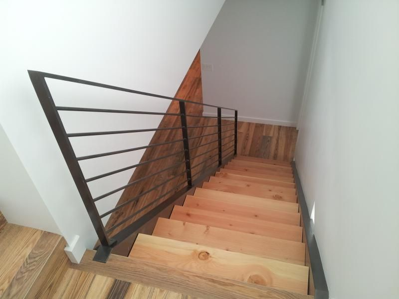 Best 12 Modern Steel Stringer Stair Three Inch Douglas Fir 400 x 300