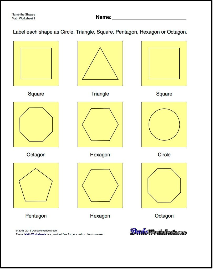 Basic geometry worksheets middle school