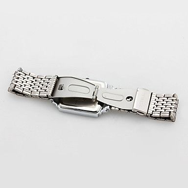 USD $ 9.99 - Couple Style Stainless Steel Alloy Analog Quartz Wrist Watch (Silver), Free Shipping On All Gadgets!