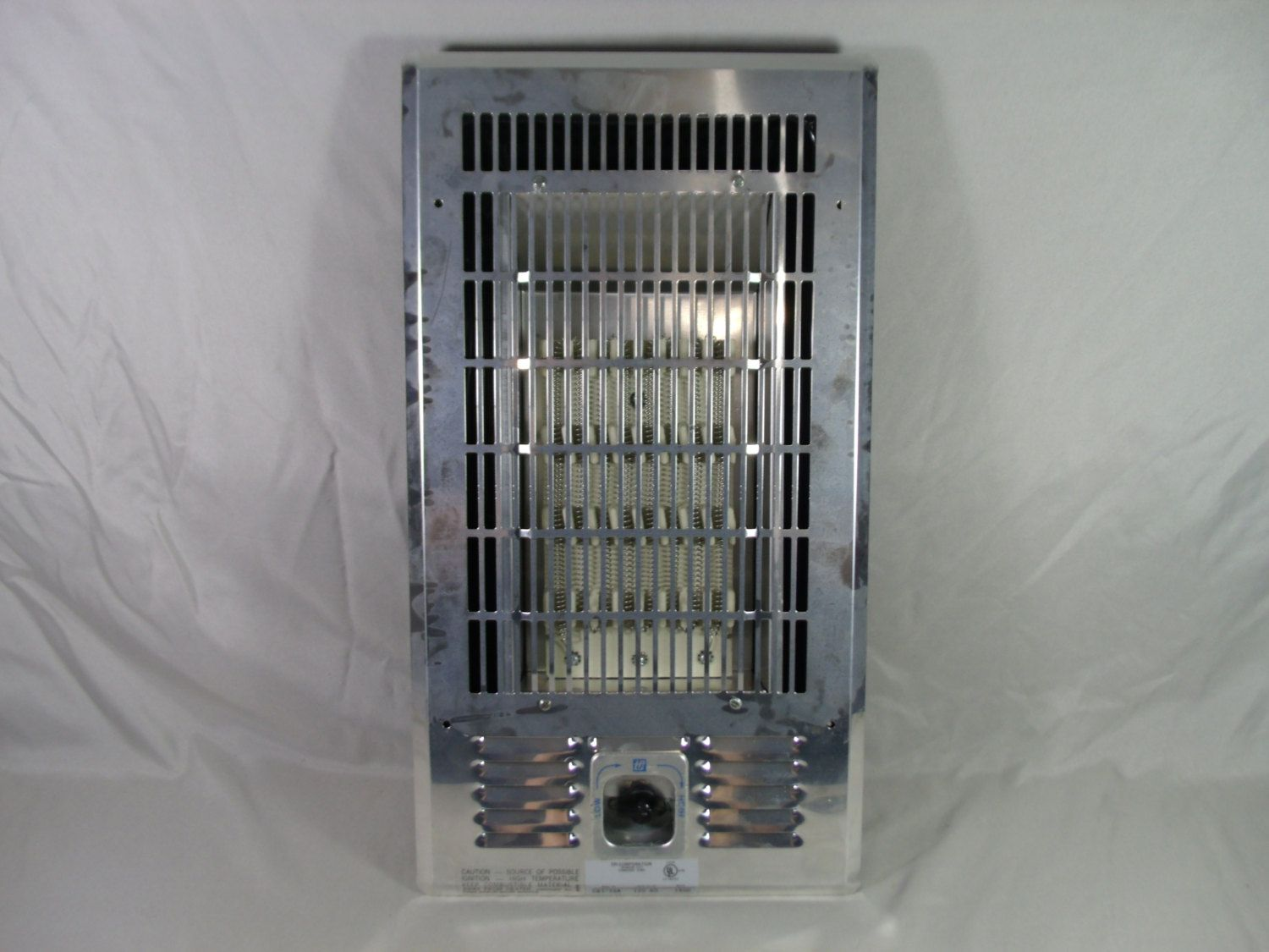 Vintage tpi electric coil radiant wall heater cb1 15a with for Electric radiant heat thermostat