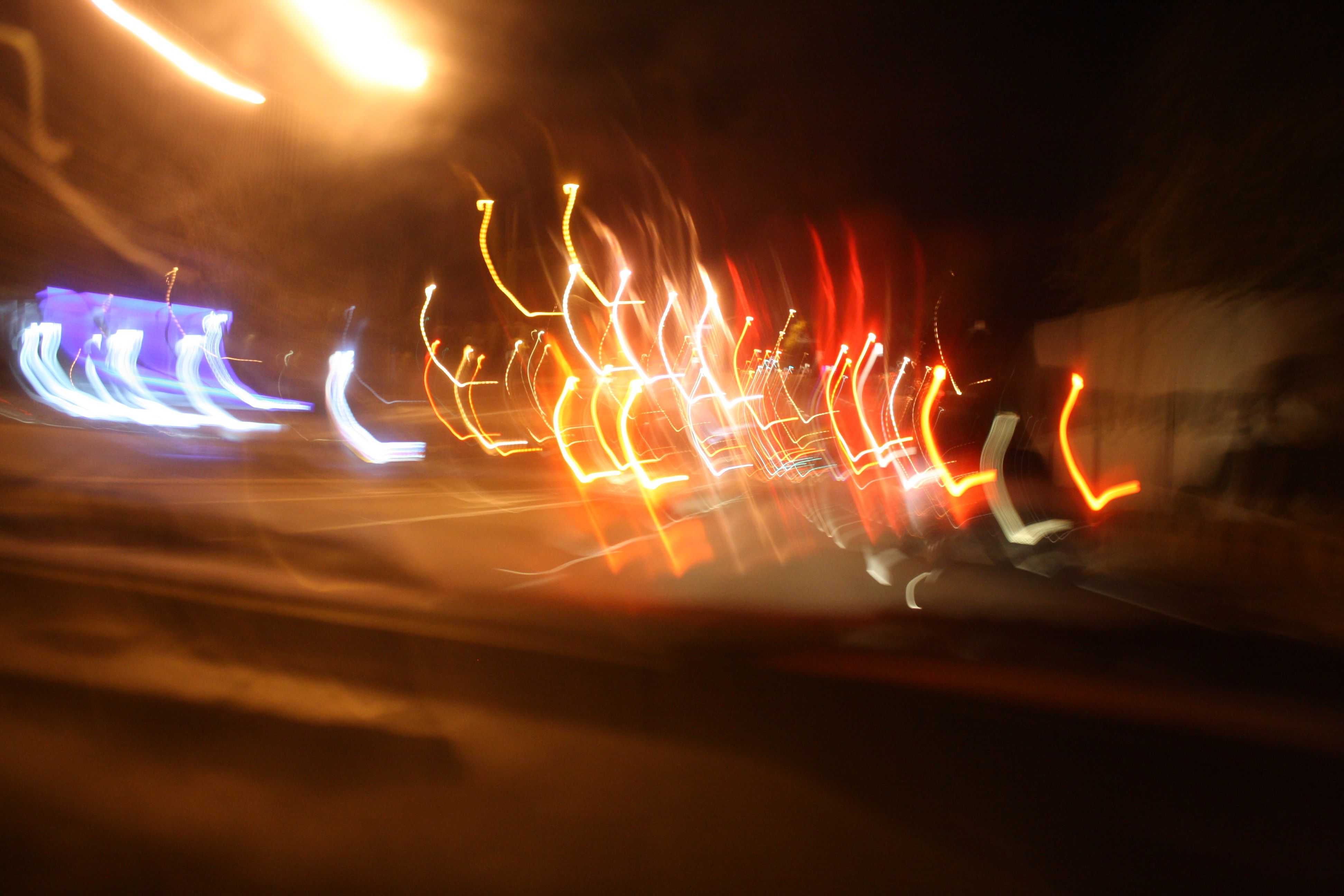 messing with the shutter speed and jerking camera around in the car when i first got it.