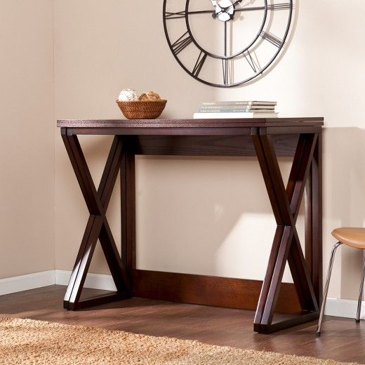 Expandable Counter Height Table Coffee Brown Aiden Lane - Expandable counter height dining table