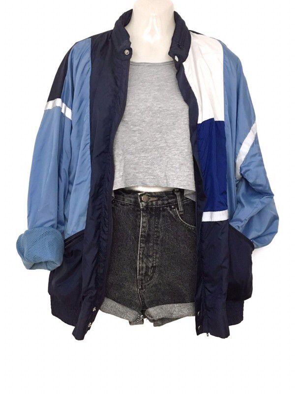 Vintage Retro Adidas Sport Jacke Windbreaker Blouson Urban Street Style Hipster
