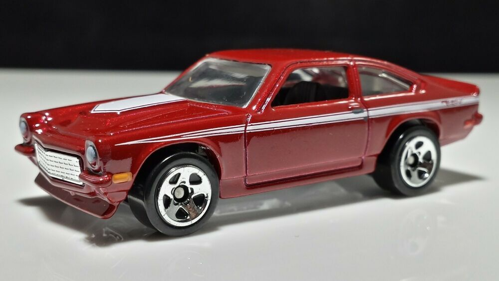 Hot Wheels Chevy Custom V8 Vega Darkk Red 1 64 Diecast Car 5sp