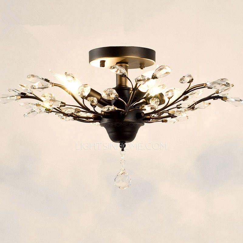 Bedroom:Design Ideas Antique Twig Type 4 Light Wrought Iron ...
