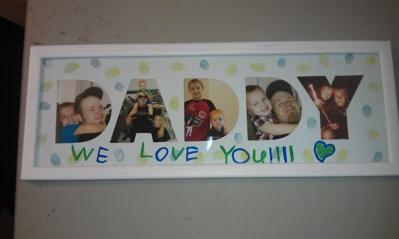 Cricut Letters Picture Frame My Fathers Day Project