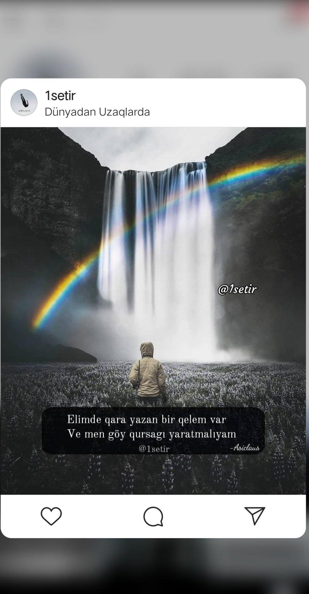 Azerbaycanca Sozler Yazili Resimler Status Resimleri Yazili Sekiller Seir Sevgi Paylasimlari Ayriliq Outdoor Waterfall Lockscreen