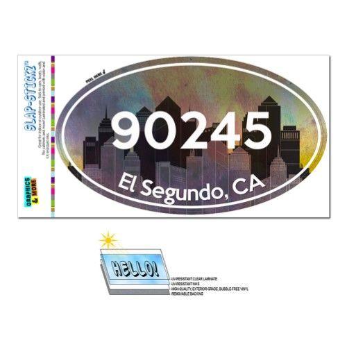90245 El Segundo Ca City Oval Zip Code Sticker Products