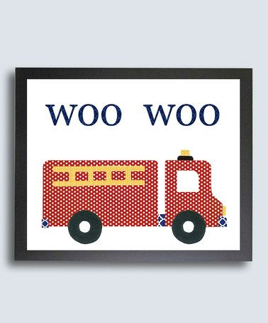 This 'Woo Woo' Fire Engine Print is perfect! zulilyfinds