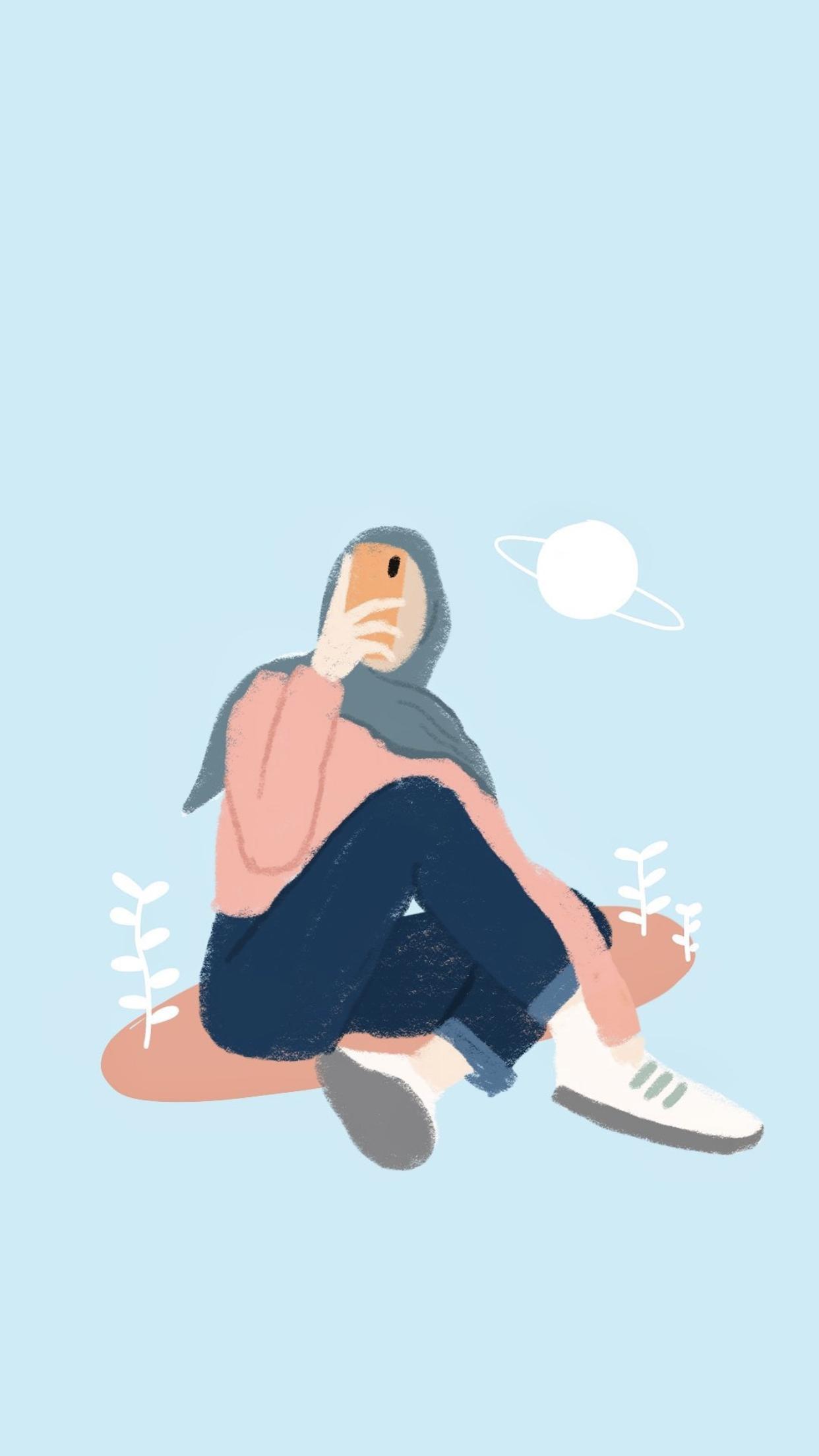 Foto kartun dengan hijab style yang bisa kamu gunakan untuk di jadikan foto profil alias pp di akun sosmed mu baik itu whatsapp, instagram,. Pin By Sabrina Caetano On Moodcewekk Ilustrasi Karakter Ilustrasi Lukisan Ilustrasi