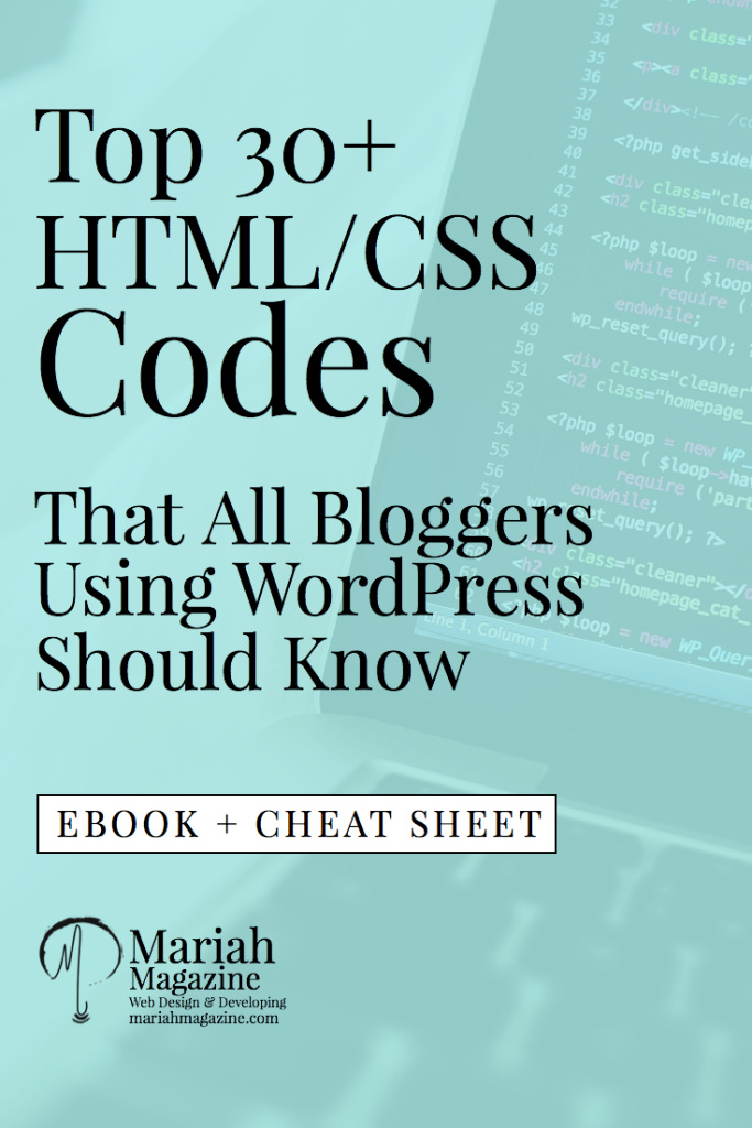 Html Css Codes To Improve Your Website Blog Tips Web Design Tips Blog Resources