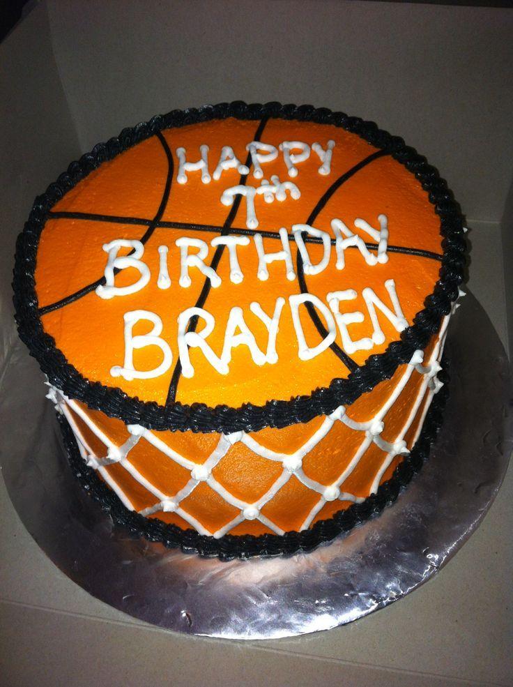 Birthday Cake For Basketball ~ Basketball birthday cake for brayden cakes we love pinterest