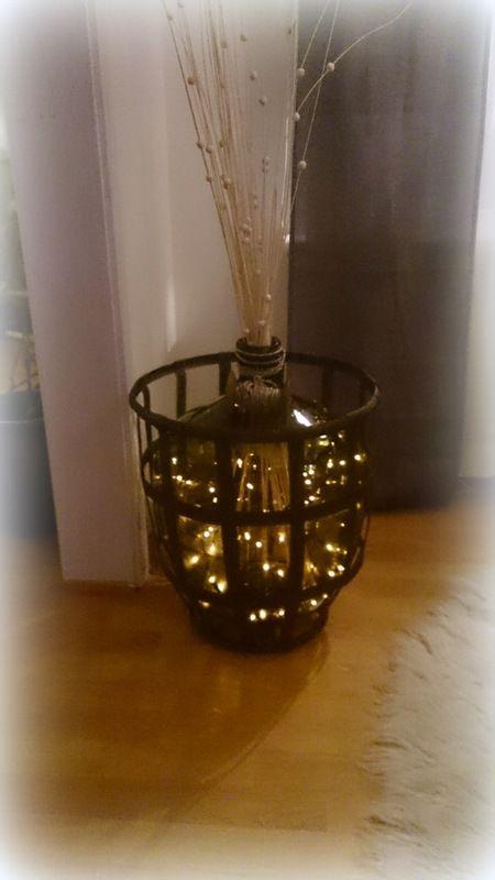 Vinballong ble lampe   Hjem, Interiør