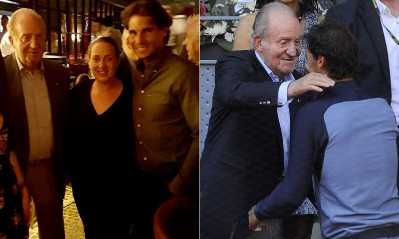 Don Juan Carlos y Rafa Nadal cenaron juntos tras el triunfo del tenista