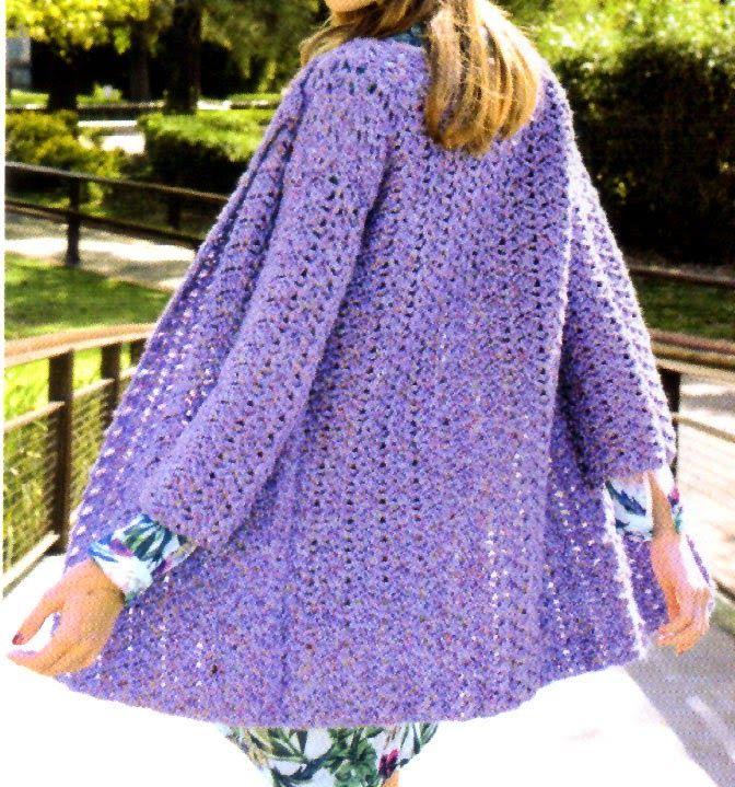 tejidos al crochet paso a paso con diagramas saco folk