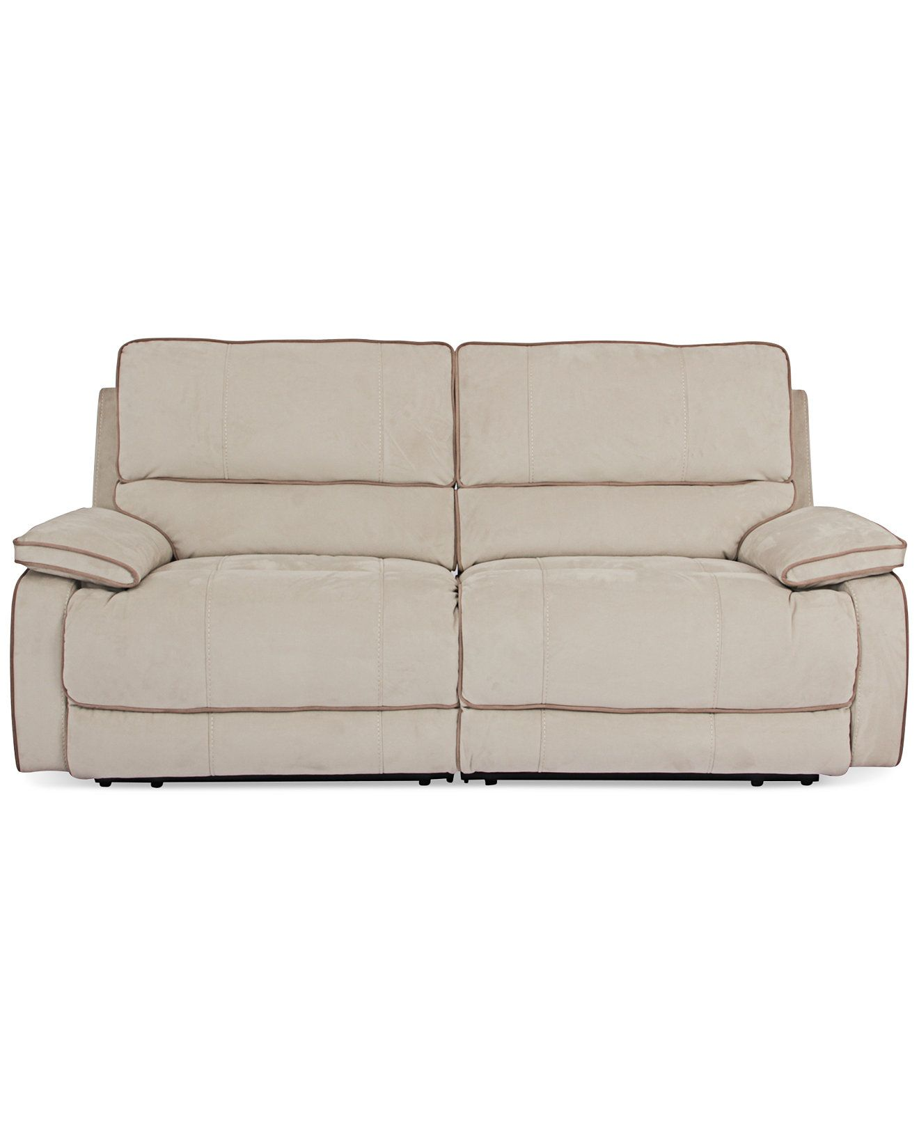 Cody Fabric 2 Piece Sectional Sofa with 2 Power Recliners