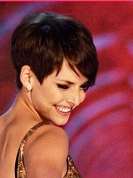 Classic short pixie cut for thick hair! I would love to try cutting my hair this short. Maybe next time I get my hair cut! It's only hair, it will grow back! I just think it would be an awesome style and easy to do. Way less time than my shoulder length I have had forever! That's it I'm making an appointment today, just talked myself into trying it!