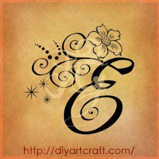 Lettera e anemone tattoo e pinterest floreale for Idee tatuaggi lettere