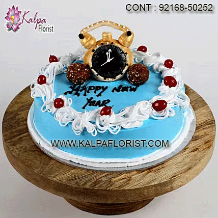New Year Special Chocolate Cake- 1 Kg ( New Year Gift To ...