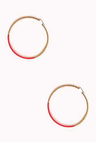 Neon Pop Oversized Hoops | FOREVER 21