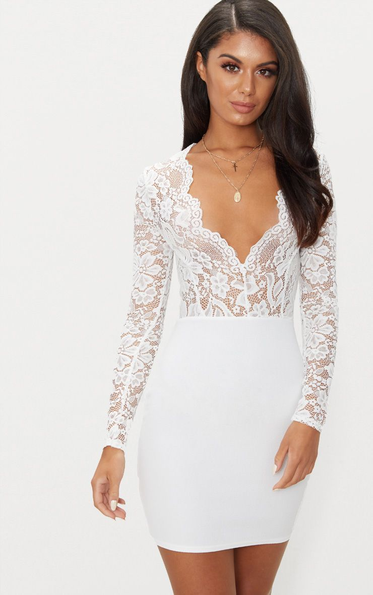 White Bodycon Dress Long Sleeve Long Lenght Springville Slick Here White Lace Long Sleeve Top Lace Top Long Sleeve White Long Sleeve Dress Bodycon [ 1180 x 740 Pixel ]