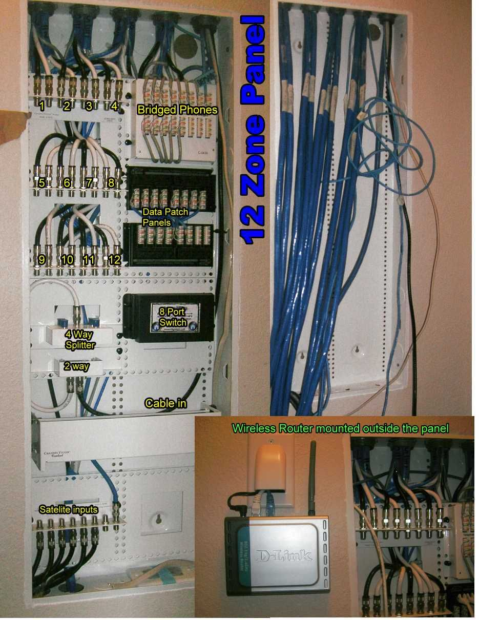 hight resolution of how to wire a structured wiring panel hometech techwiki