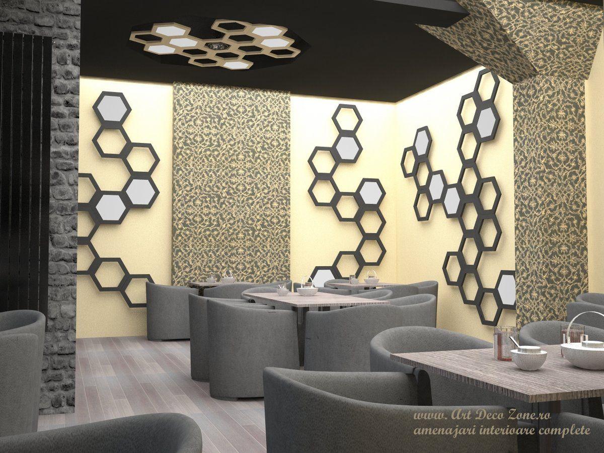 Elemente hexagonale atat pentru decorul peretilor cat si pentru ...