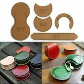 TEMPLATE TEMPLATE PATTERN TOOLS Horseshoe Coin Purse Bag Kraft Paper Leather Craft DIY  1079  PicClick  TEMPLATE