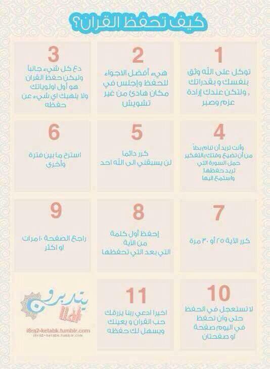 كيف تحفظ القران اللهم اجعلنا من الحافظين لكتابك والعاملين به آمين يا رب العالمين Islam Facts Islam Beliefs Learn Quran