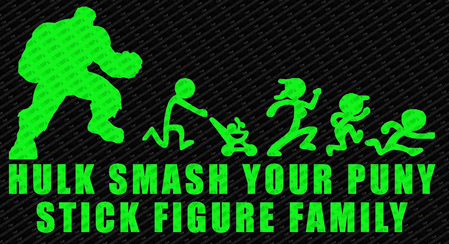Amazoncom Hulk Smash Your Puny Stick Figure Family Die Cut Vinyl - Cool custom vinyl decals for carsamazoncom hulk vinyl decal sticker automotive