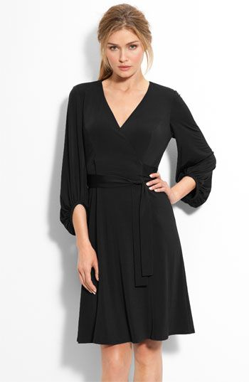 Donna Ricco Bloused Sleeve Faux Wrap Dress available at #Nordstrom