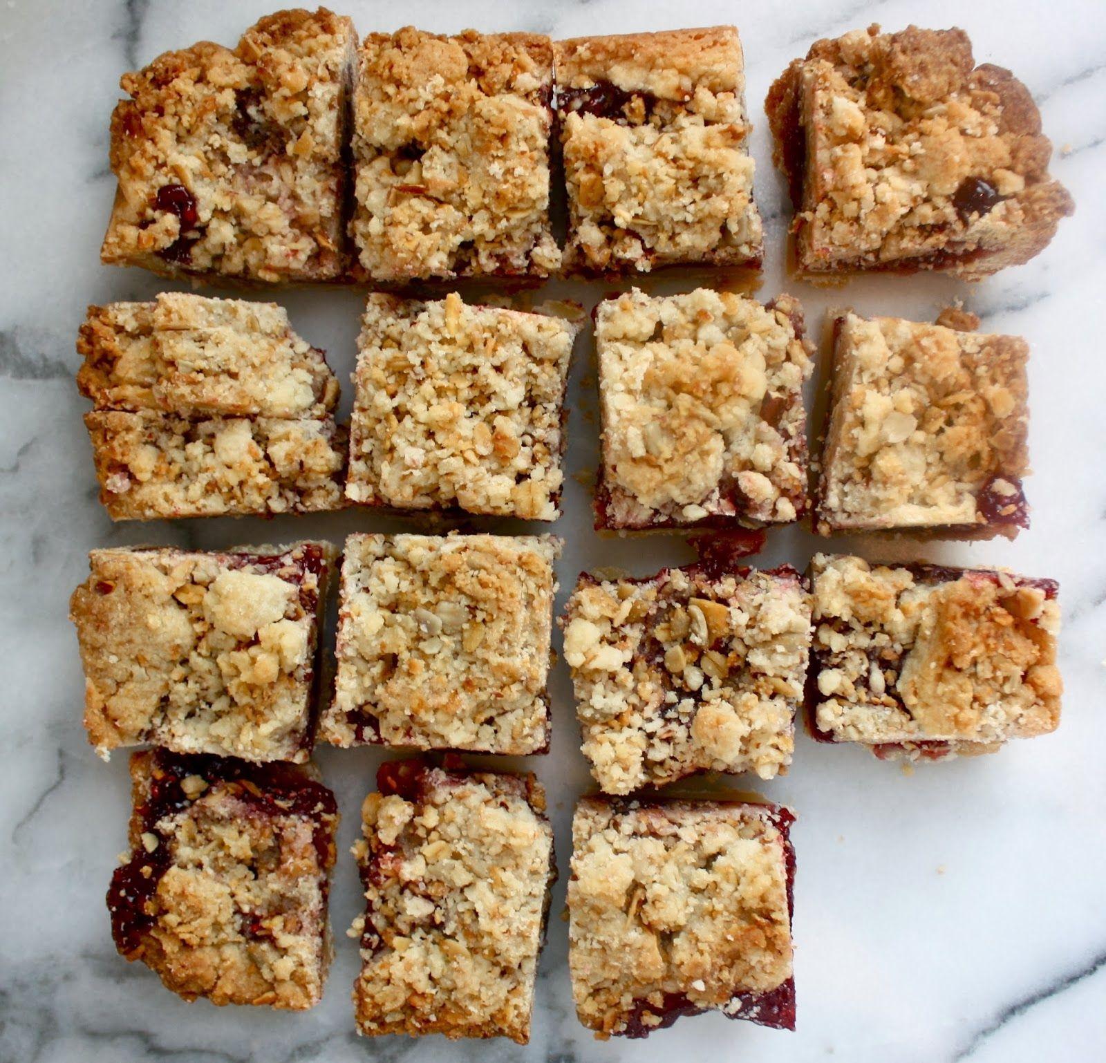Ina Garten S Famous Raspberry Jam Crumble Bars Bake Cook Eat