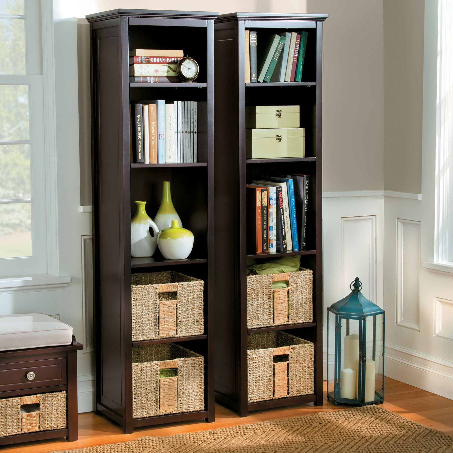 Add Stylish Organization In Tight Spaces With Our Danbury Storage Tower.  This Storage Tower Gives You Plenty Of Vertical Storage And Organization  With 5 ...
