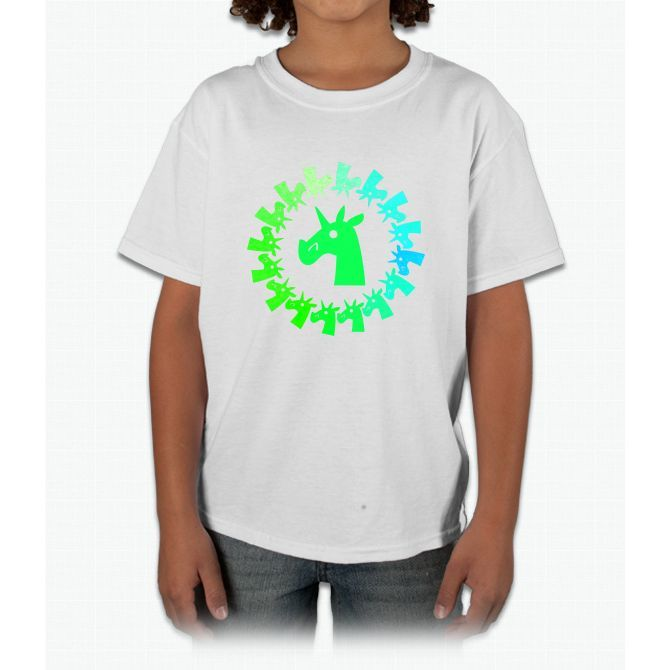 Color Me Green Unicorn Young T-Shirt
