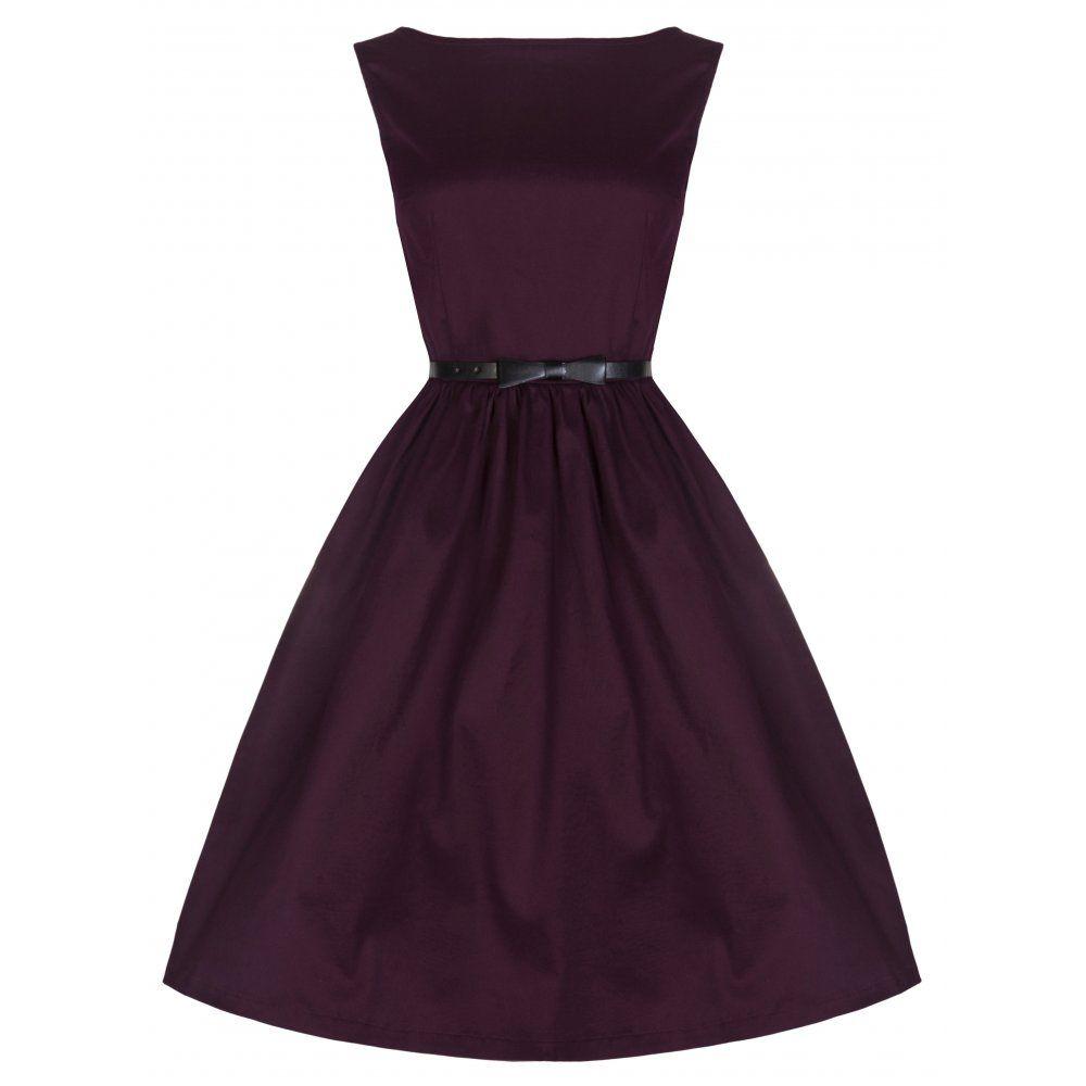 Audrey iconic 50s style swing dress in deep damson bridesmaid audrey iconic 50s style swing dress in deep damson ombrellifo Choice Image